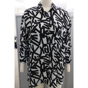 Thrifted random letter blouse